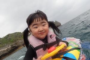 3歳青の洞窟シュノーケリング