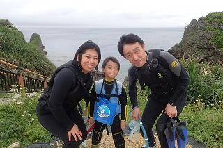 5歳の子供と青の洞窟シュノーケリング