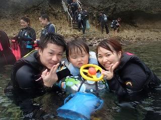 2歳から参加できる青の洞窟ぷかぷかシュノーケリング