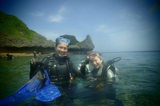 貸切青の洞窟ダイビング終了写真