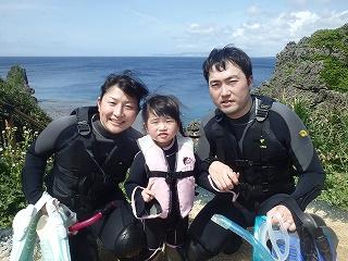 青の洞窟2歳の子供とシュノーケリング