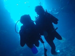 青の洞窟ダイビング写真