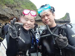 ダイビングヒトデと写真