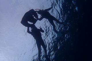 青の洞窟シュノーケリングを海底撮影