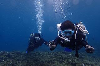 男二人で体験ダイビング