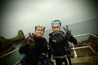 男二人旅ダイビング