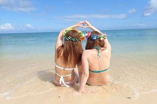 プライベートビーチでマーメイド体験