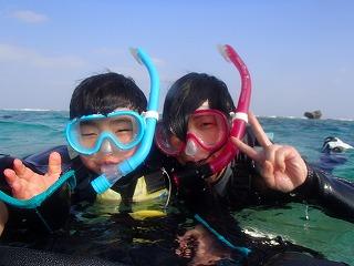 泳げなくても安心 シュノーケリング