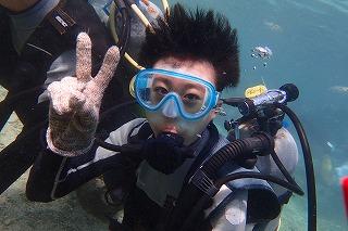 沖縄シュノーケリング 水中から