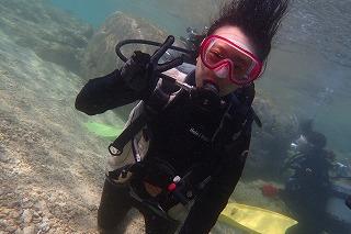 沖縄シュノーケリング 水中で