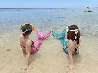 マーメイド体験 撮影 プライベートビーチにて