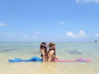 マーメイド体験 きれいなビーチ