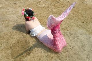 マーメイド体験 きれいなビーチで!