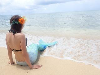 マーメイド体験 プライベートビーチで撮影