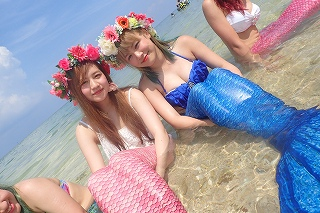 マーメイド体験 かわいい人魚姫