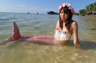 沖縄 マーメイド体験 ピンク
