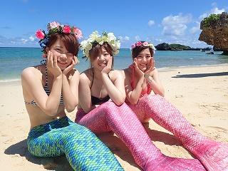 沖縄マーメイド体験 撮影