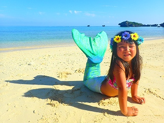 沖縄 人魚体験4歳