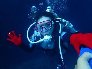 ダイビング 青の洞窟